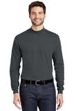 Interlock Knit Mock Turtleneck Steel Grey Thumbnail