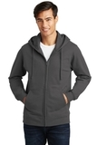 Port & Company Fan Favorite Fleece Full-Zip Hooded Sweatshirt Charcoal Thumbnail