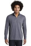 Tri-Blend Wicking 1/4-Zip Pullover True Navy Heather Thumbnail