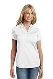 Women's Diamond Jacquard Polo White Thumbnail
