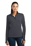 Women's SportWick Textured Colorblock 1/4-Zip Pullover Iron Grey with Black Thumbnail