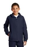 Youth Hooded Raglan Jacket True Navy Thumbnail