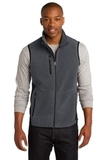 Port Authority R-tek Pro Fleece Full-zip Vest Charcoal Heather with Black Thumbnail