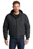 Duck Cloth Hooded Work Jacket Charcoal Thumbnail