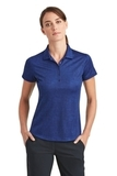 Women's Nike Golf Dri-FIT Crosshatch Polo Old Royal with Marine Thumbnail