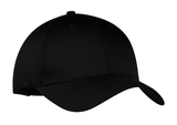 6-panel Twill Cap Black Thumbnail