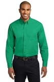 Tall Long Sleeve Easy Care Shirt Court Green Thumbnail