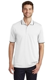 Dry Zone UV MicroMesh Tipped Polo White with Deep Black Thumbnail
