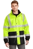 Ansi Class 3 Waterproof Parka Safety Yellow with Black Thumbnail
