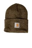 Carhartt Acrylic Watch Hat Dark Brown with Sandstone Thumbnail