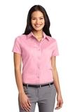Women's Short Sleeve Easy Care Shirt Light Pink Thumbnail
