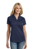 Women's Diamond Jacquard Polo True Navy Thumbnail