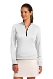 Women's Nike Golf Dri-Fit 1/2-Zip Cover-Up White with Black Thumbnail
