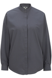 Women's Banded Collar Shirt Dark Grey Thumbnail