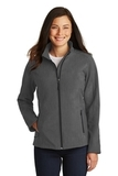 Women's Core Soft Shell Jacket Black Charcoal Heather Thumbnail