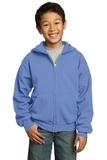 Youth Full-zip Hooded Sweatshirt Carolina Blue Thumbnail