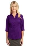 Women's 3/4-sleeve Blouse Deep Purple Thumbnail