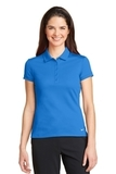 Women's Nike Golf Dri-FIT Solid Icon Pique Modern Fit Polo Light Photo Blue Thumbnail