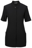 Women's Pincord Housekeeping Tunic Black Thumbnail