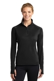 Women's Stretch 1/2-zip Pullover Black Thumbnail