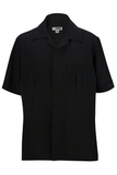 Men's Spun Poly Service Shirt Black Thumbnail