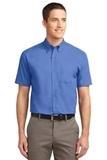 Tall Short Sleeve Easy Care Shirt Ultramarine Blue Thumbnail