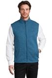 Sweater Fleece Vest Medium Blue Heather Thumbnail