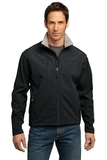 Port Authority Tall Glacier Soft Shell Jacket Black with Chrome Thumbnail