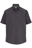 Men's Easy Care Poplin Shirt SS Steel Grey Thumbnail
