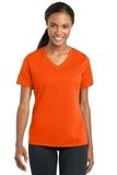 Women's Racermesh V-neck Tee Neon Orange Thumbnail