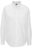 Women's Dress Button Down Oxford LS White Thumbnail