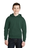 Youth Pullover Hooded Sweatshirt Forest Green Thumbnail