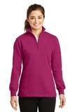 Women's 1/4-zip Sweatshirt Pink Rush Thumbnail