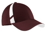 Dry Zone Mesh Inset Cap Maroon with White Thumbnail