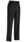 Women's Poly / Wool Pinstripe Flat Front Pant Navy Thumbnail