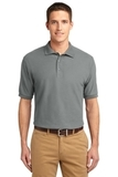 Extended Size Silk Touch Polo Shirt Cool Grey Thumbnail