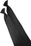 22 Clip-on Poly Tie Black Thumbnail