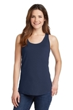 Women's 5.4 oz. 100 Cotton Tank Top Navy Thumbnail