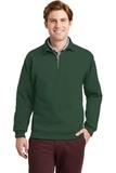 Super Sweats 1/4-zip Sweatshirt With Cadet Collar Forest Green Thumbnail