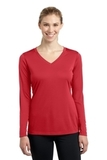 Women's Long Sleeve V-neck Competitor Tee True Red Thumbnail