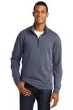 New Era Tri-Blend Fleece 1/4-Zip Pullover True Navy Heather Thumbnail