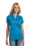 Women's Diamond Jacquard Polo Blue Wake Thumbnail