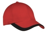 Contrast Stripe Sandwich Bill Cap Deep Red with Black Thumbnail