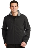 Glacier Soft Shell Jacket Black with Chrome Thumbnail