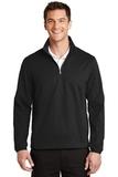 Active 1/2-Zip Soft Shell Jacket Deep Black Thumbnail