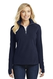 Women's Microfleece 1/2-zip Pullover True Navy Thumbnail