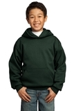 Youth Pullover Hooded Sweatshirt Dark Green Thumbnail