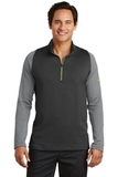 Nike Golf Dri-FIT Stretch 1/2-Zip Cover-Up Dark Grey with Cool Grey and Volt Thumbnail