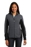 Women's Port Authority R-tek Pro Fleece Full-zip Jacket Charcoal Heather with Black Thumbnail