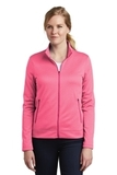 Women's Nike Golf Therma-FIT Full-Zip Fleece Vivid Pink Heather Thumbnail